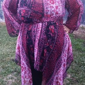 Tops - Red Gypsy style top